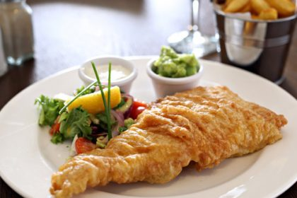 Great Fish at Murphy Browns Restaurant Belfast